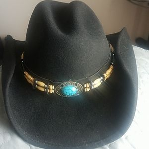 Woman cowgirl hat